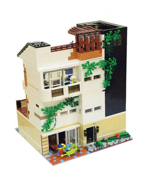 Modern Architectural Home Of A Yuppie レゴ