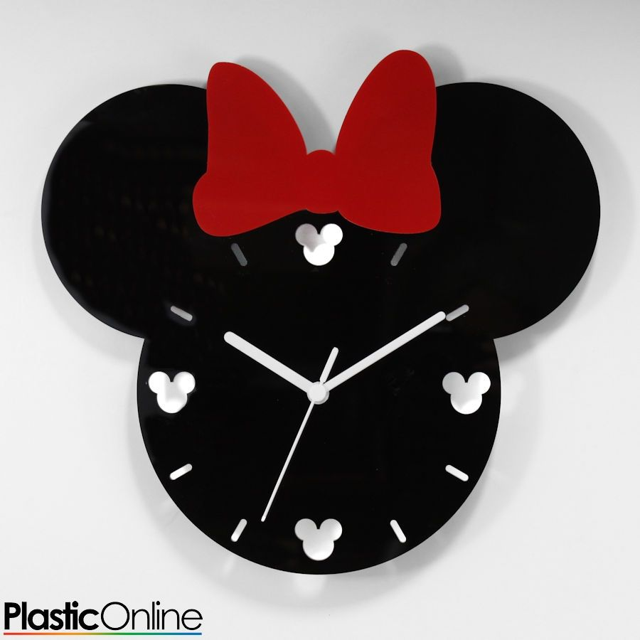 Minnie Mouse Inspired Wall Clock Only 13 99 Clock Craft Mickey Mouse Room Disney Room Decor