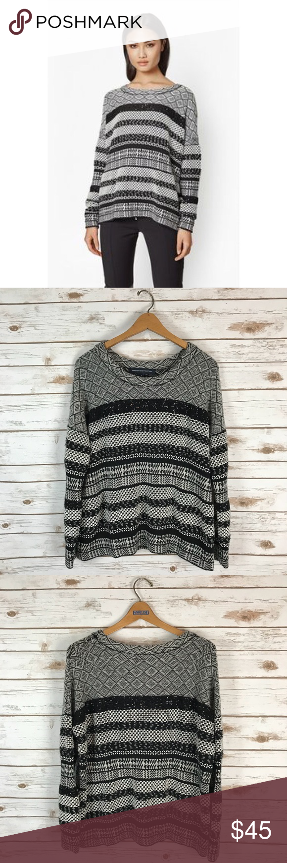 147d2dd1e527f French Connection Sequin Fair Isle Sweater This sweater is so cute and  perfect for fall and