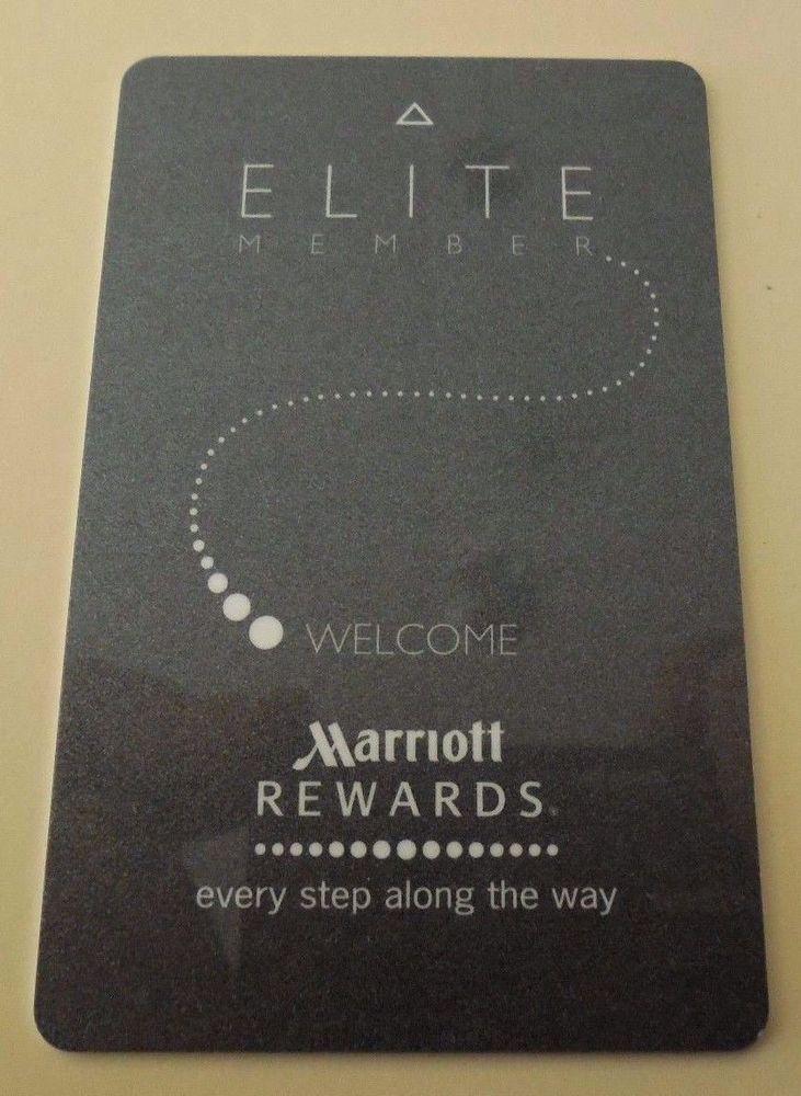 details about marriott elite rewards hotel resort card room key security swipe plicard used