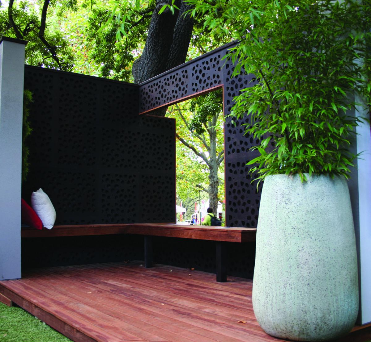 Marakesh Design 1200 mm(H) x 600 mm(W) Panels. 80% Privacy/ Blockout ...