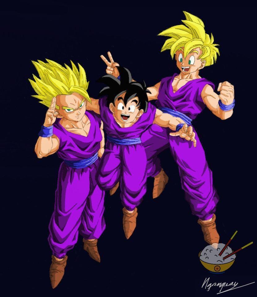 Dragon Ball - Gohan 10 (All Teen color) by songohanart on ...