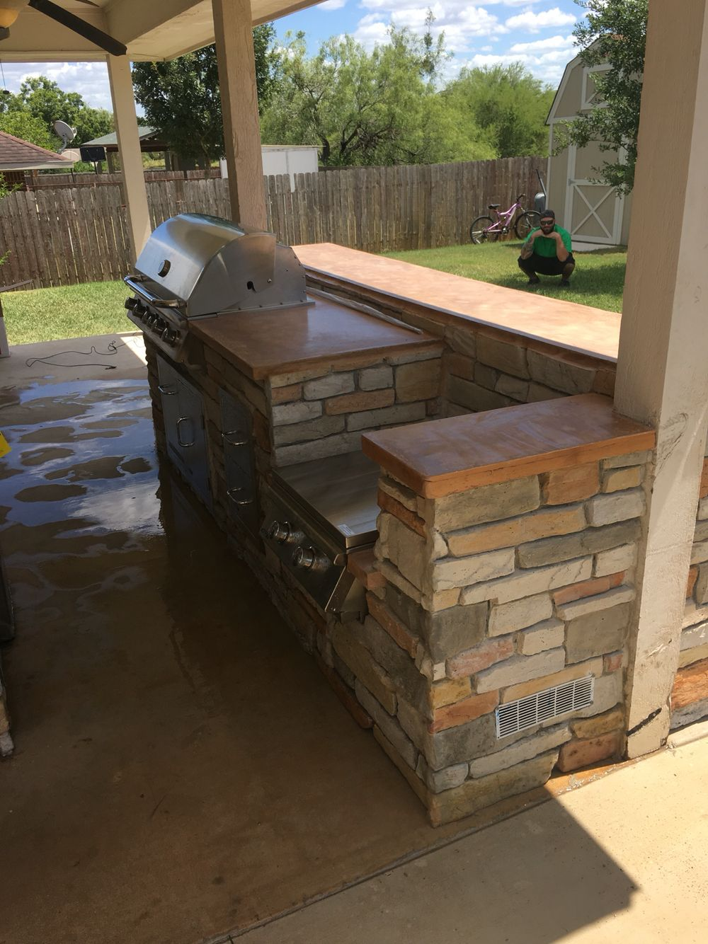 Hard to believe the walls are made of concrete! Looks like natural stone and no worry of future mortar failure! www.gebhardtdesigns.com