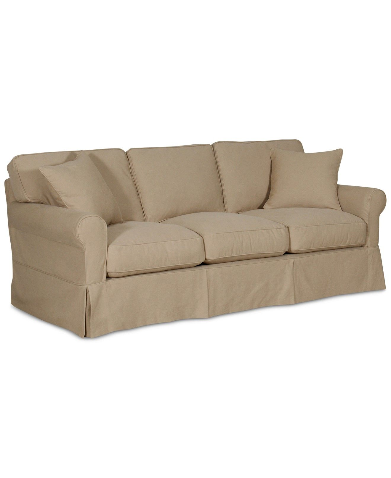 Leanne Fabric Slipcover Sofa Couches Sofas Furniture