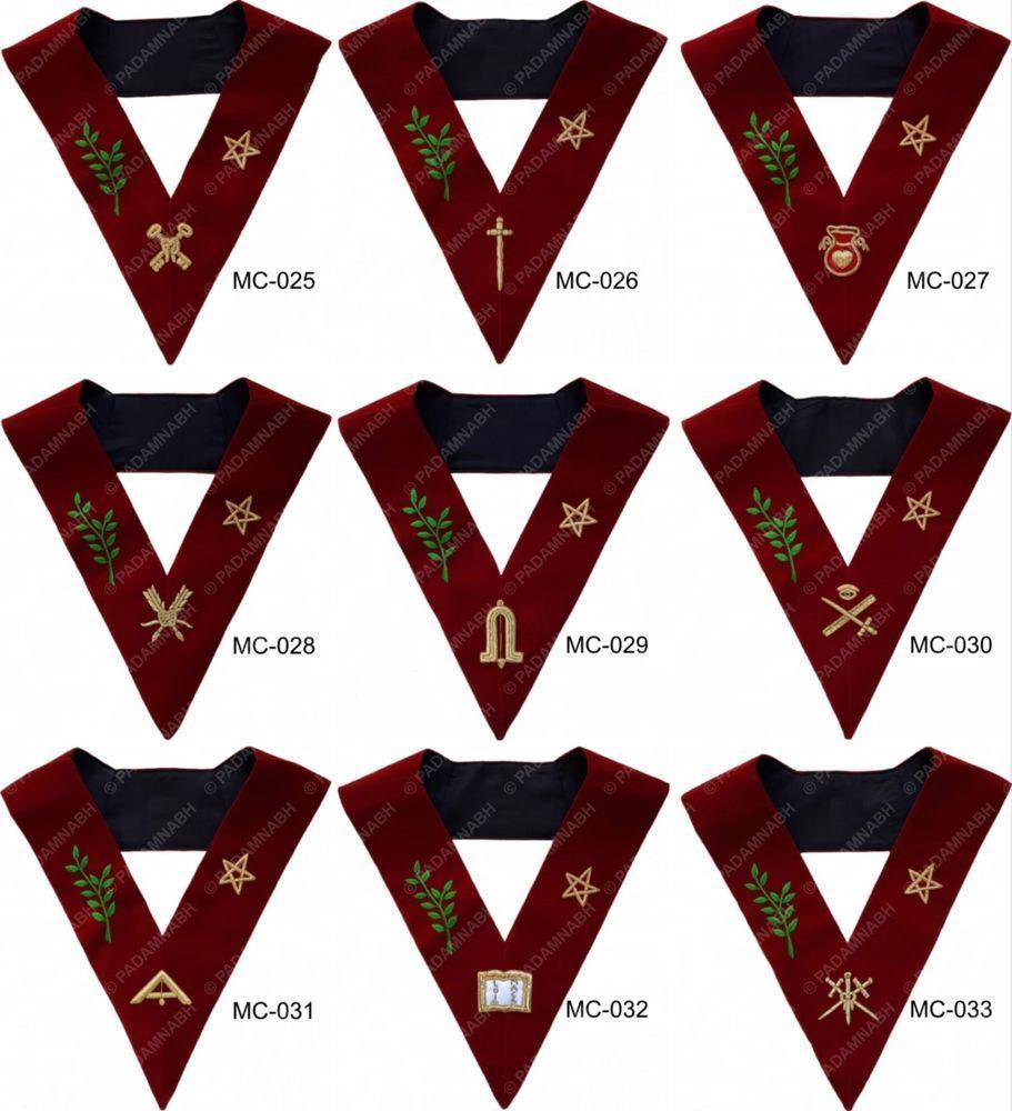 Masonic scottish rite 14th degree lodge of perfection officer masonic scottish rite 14th degree lodge of perfection officer collars set of 9 buycottarizona