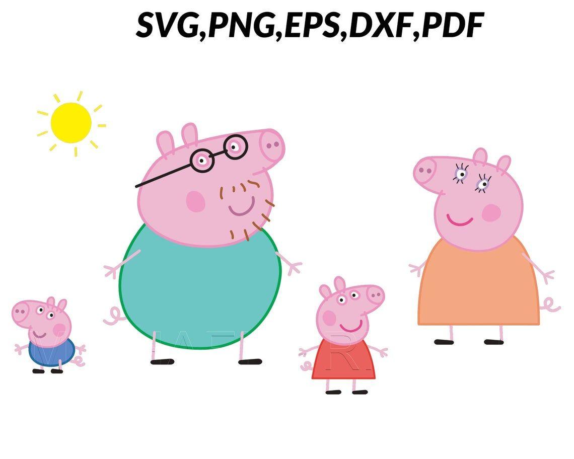 Family Peppa Pig Svg Peppa Pig Png Peppa Pig Clicpart Peppa Etsy In 2021 Peppa Pig Family Peppa Pig Birthday Decorations Peppa Pig Teddy