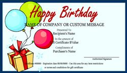 Gift Certificate Template Free Fill In