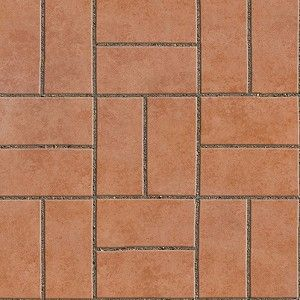 Regular Blocks Terracotta Outdoor Floorings Textures Seamless 90