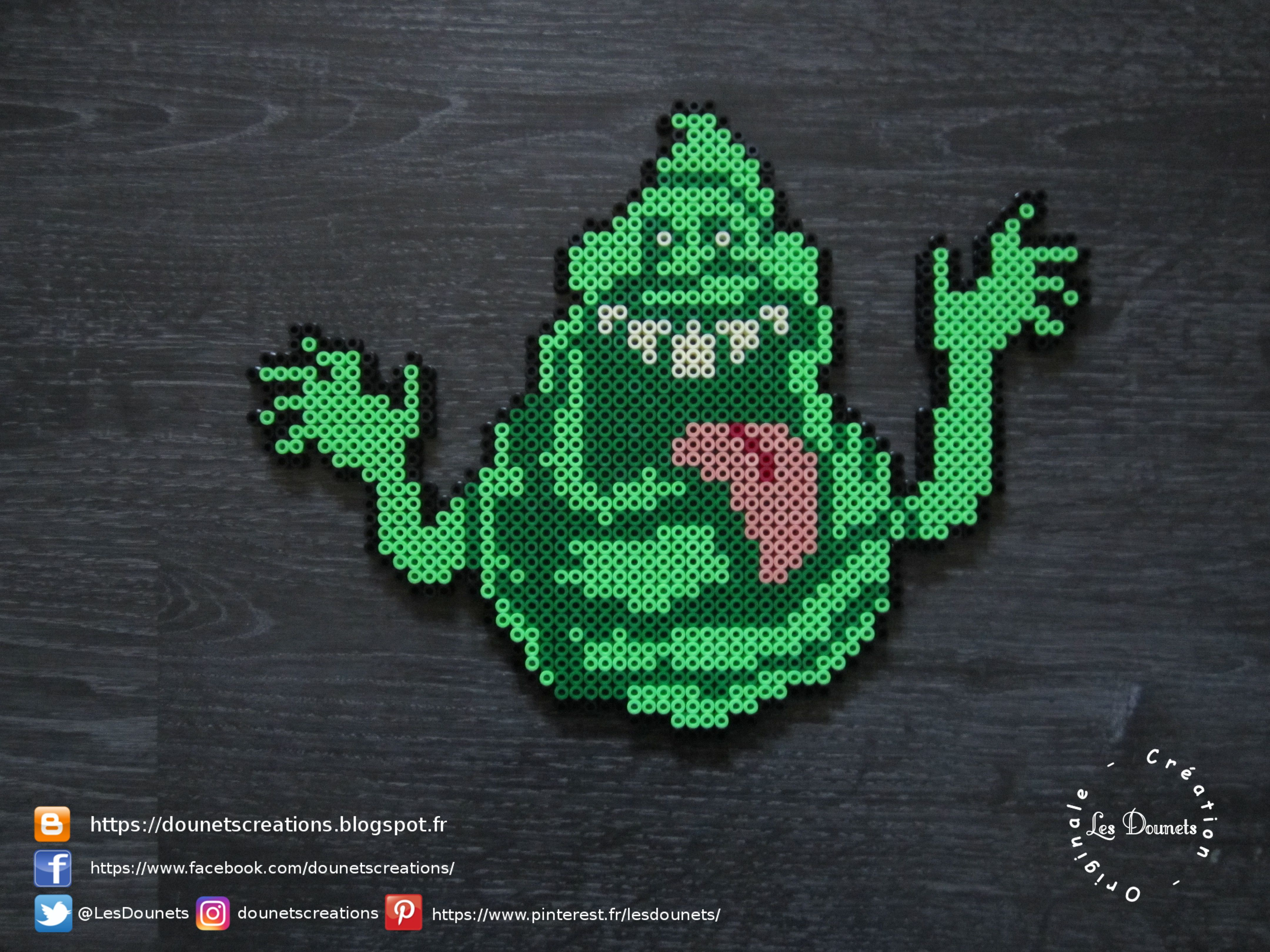 Sos Fantômes Bouffe Tout Perles Hama Ghostbusters Slimer