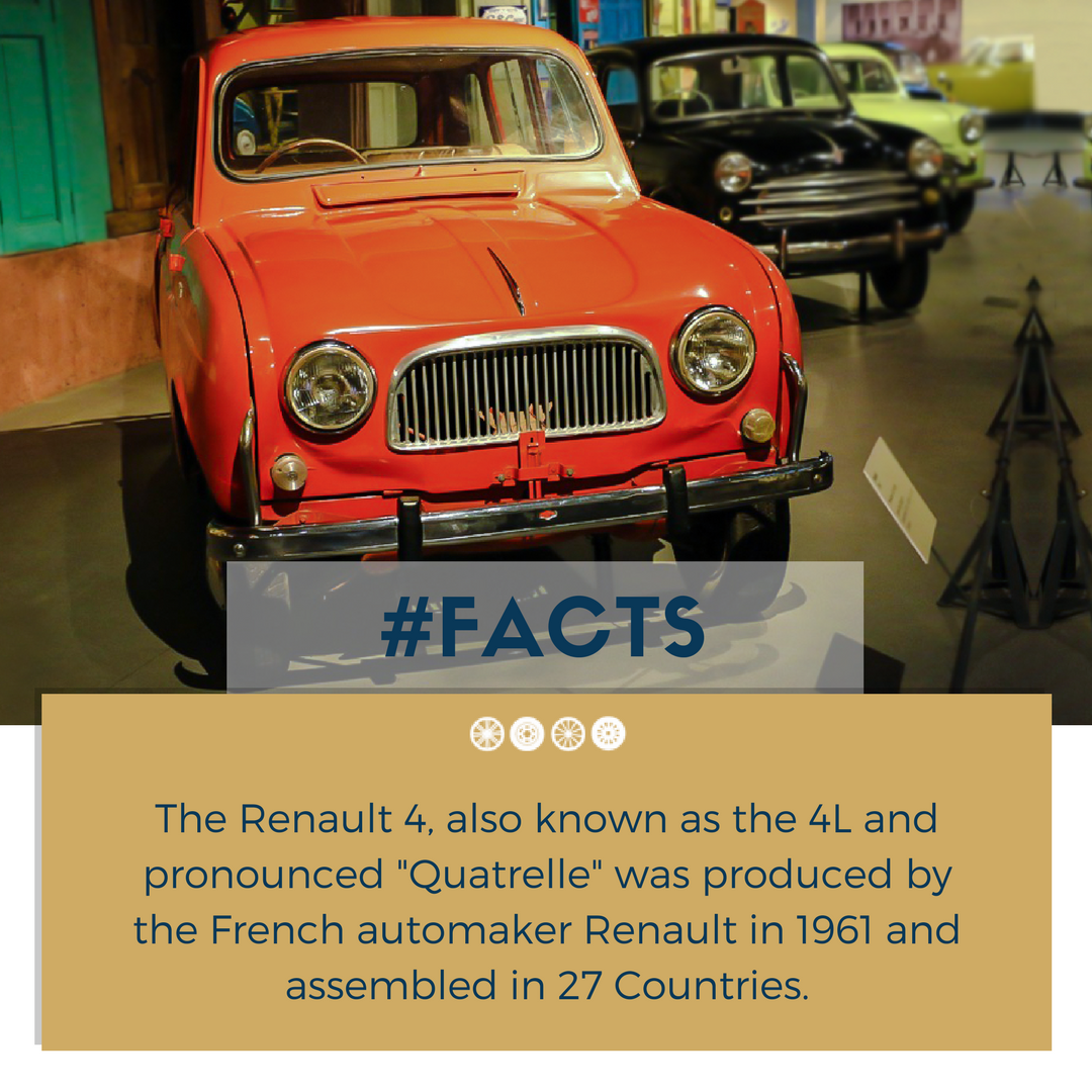Renault 4, the first front-wheel drive family car produced by ...