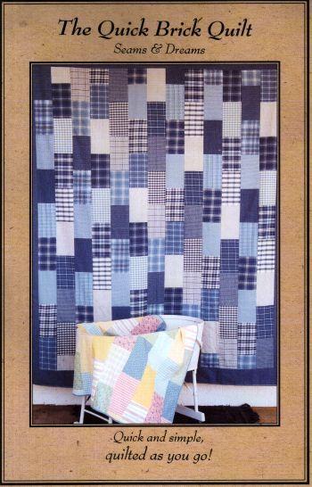 Quick Brick Quilt Pattern | Brick Quilts | Pinterest | Bricks ... : brick quilt - Adamdwight.com