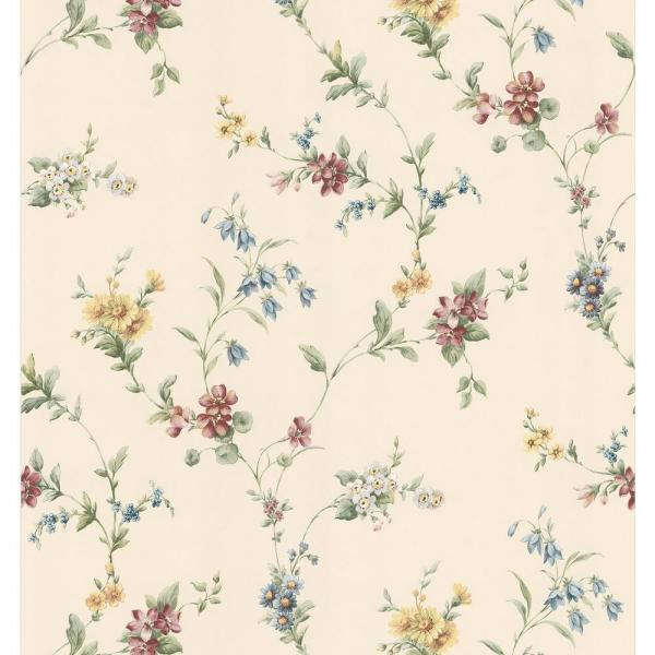 Brewster Floral Trail Wallpaper 137-38533 - The Home Depot