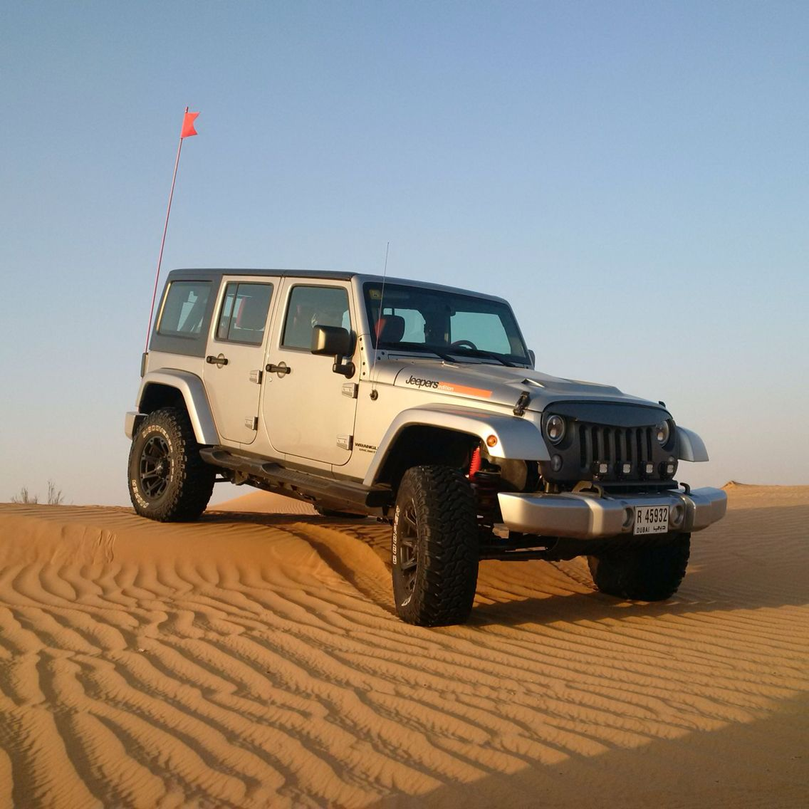 Jeep wrangler 2015 modified by jeepers uae gun metal grey 4 5 liftkit angry