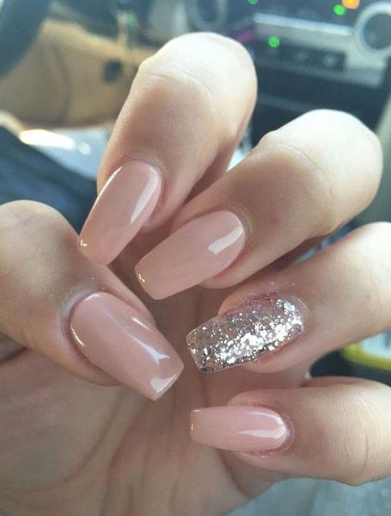Photo of 85 Best Cute and Natural 💕 Glitter Nails Design (Matte Nails, Acrylic Nails) …