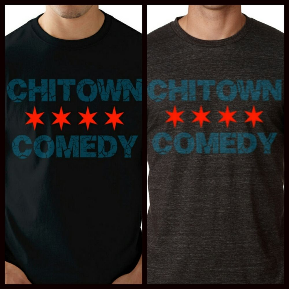 Now Accepting PreORDERS.  Represent your city and your love for comedy with the original Chitown Comedy T-Shirt in both Black and Charcoal Gray. Taking Presale Orders today! Free gift with every purchase. The original Chitown Comedy T-Shirt is made of High Quality Ringspun cotton.Product Details:*100% combed and ring-spun cottonSelect color and size from drop down.