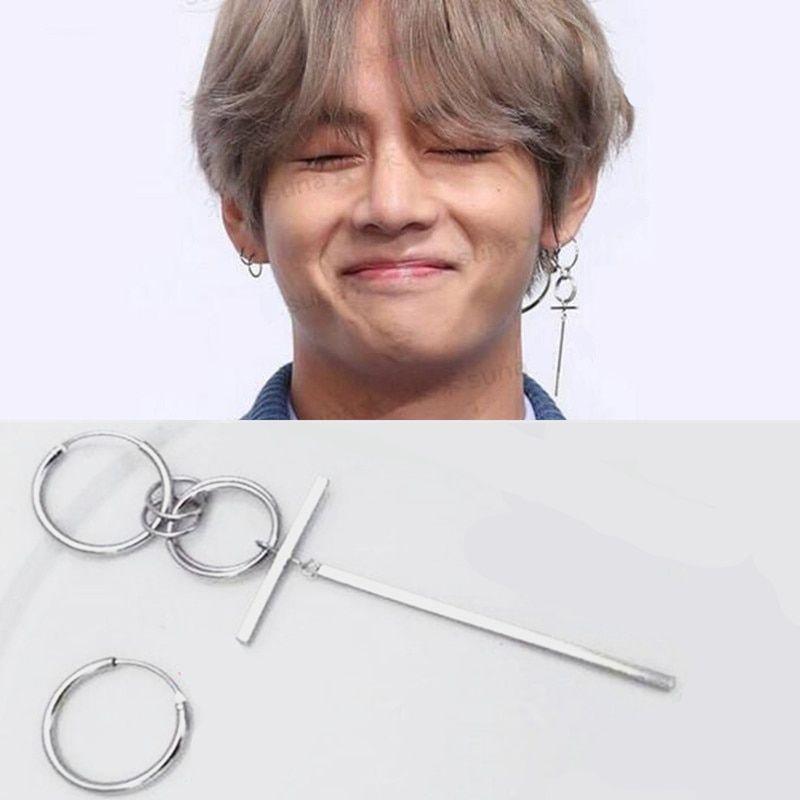 Camellia Silver Needle Earrings Simple Bts Earrings Kpop Earrings Korean Earrings