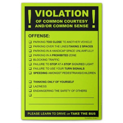Funny Fake Parking Ticket Driving Citation Post-it Notes Note - bus ticket template