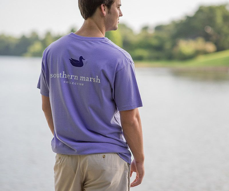 Our most popular shirt, featuring the Southern Marsh mallard silhouette logo on the back, and our Authenticlogo on the front pocket. Available in all kinds ...