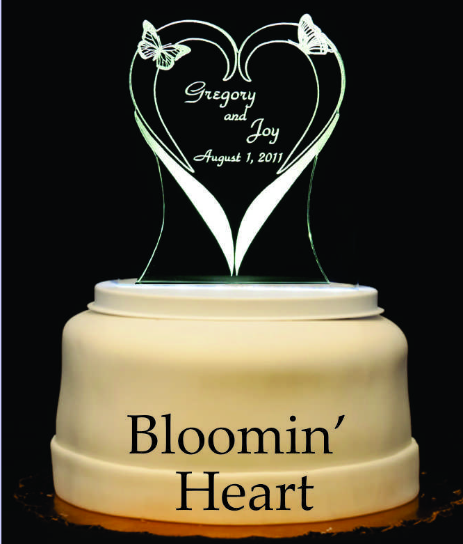 Blooming Heart Light-Up Wedding Cake Topper | wedding | Pinterest ...