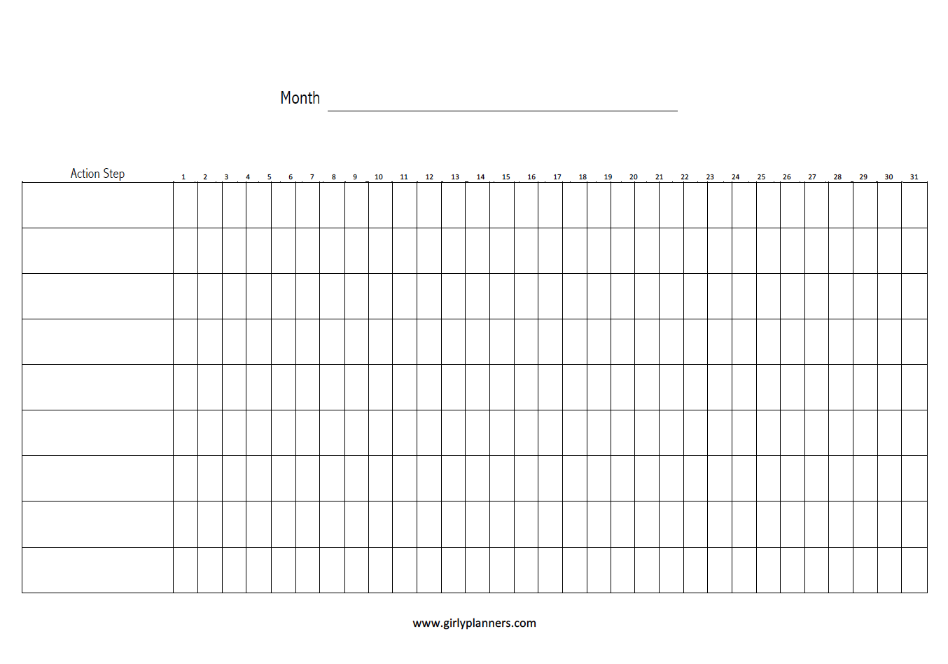 graphic relating to Habit Tracker Free Printable identified as Month to month Objective Behavior Tracker - Cost-free Printable (A5) Free of charge
