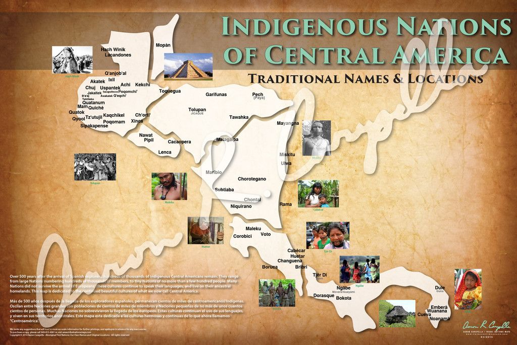 Central America Indigenous Nations of Central