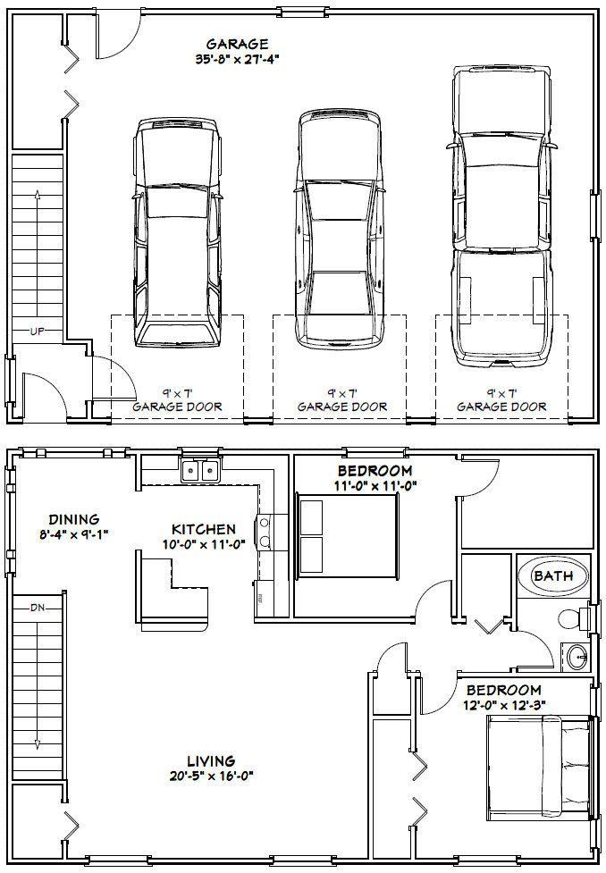 40x28 3 Car Garages 1136 Sq Ft Pdf