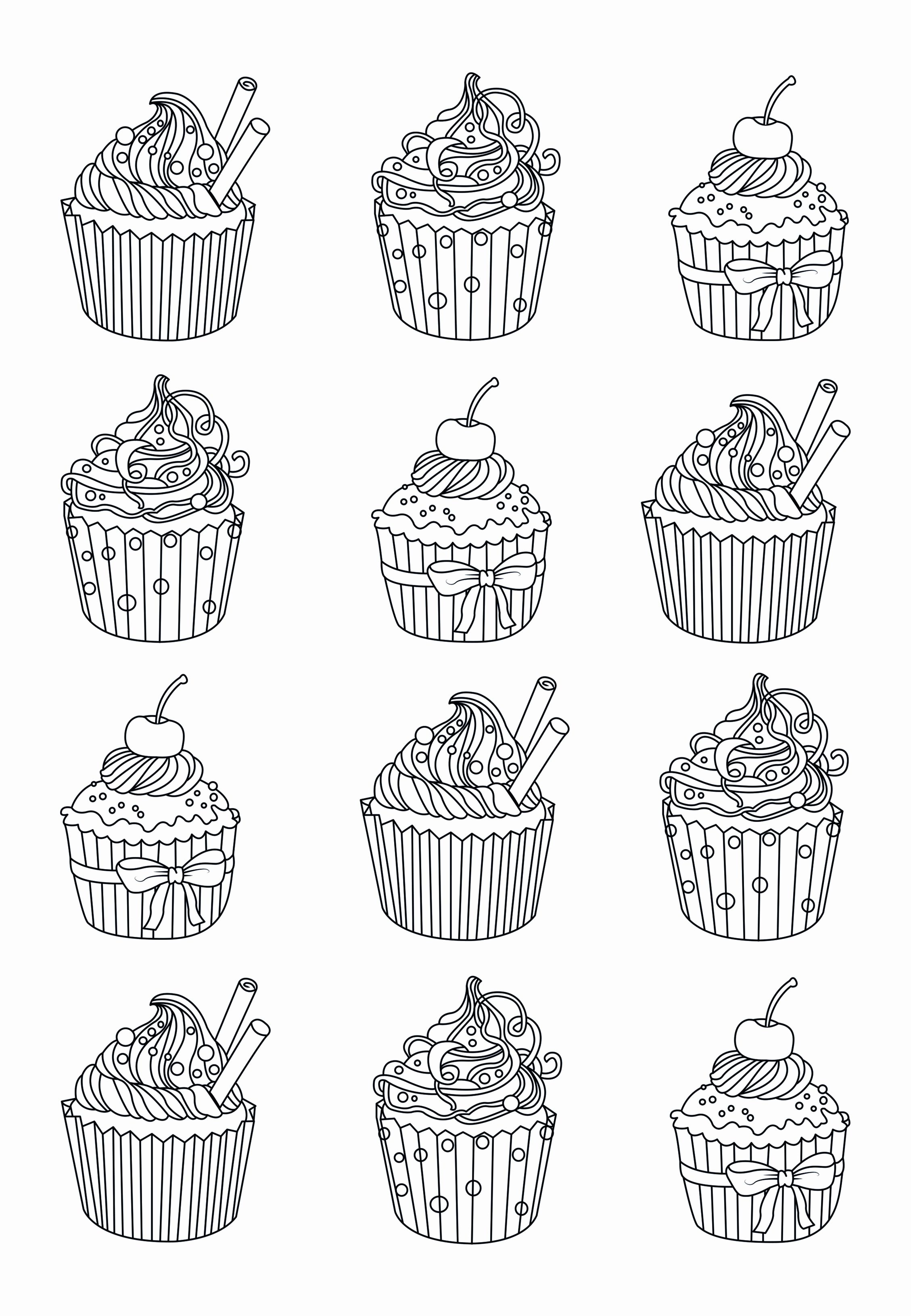 Cake Coloring Pages For Adults Luxury Andy Warhol Coloring Pages Free Coloring Home In 2020 Cupcake Coloring Pages Easy Coloring Pages Food Coloring Pages