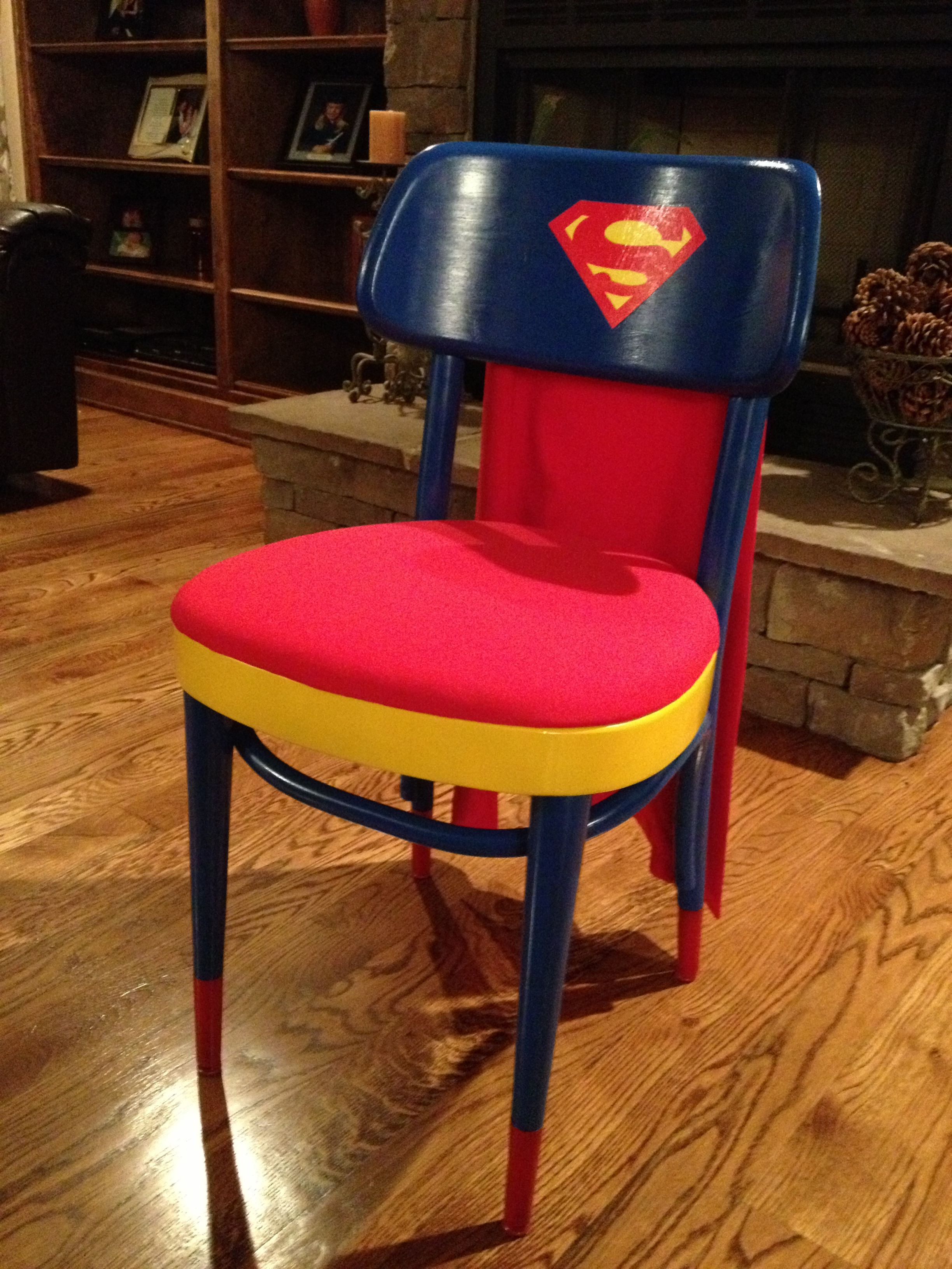 superman chair kid s room superman bedroom superman superman room rh pinterest com superman chart spiderman characteristics