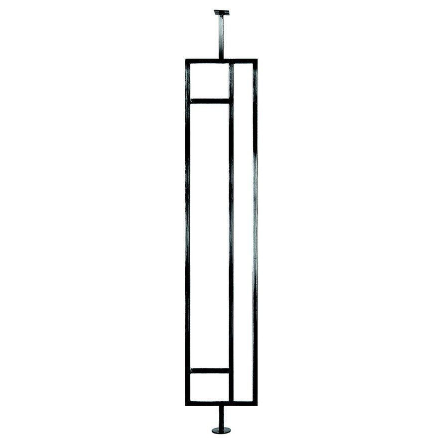 Best 35 In Black Powder Coated Wrought Iron Square Baluster 640 x 480
