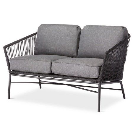 Standish Patio Loveseat   Gray   Project 62™