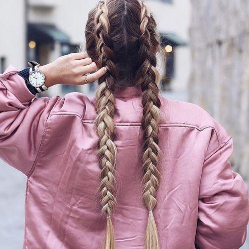 ♡two dutch braids♡dos trenzas de holandés♡