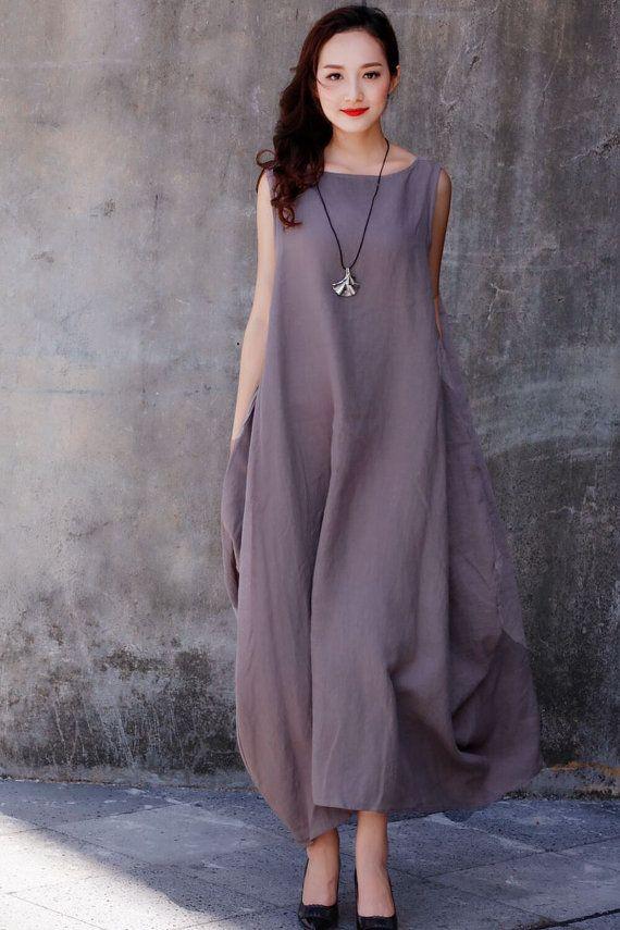 finest selection dd694 932d4 Maxi vestido de blanco / único flojo montaje por ...
