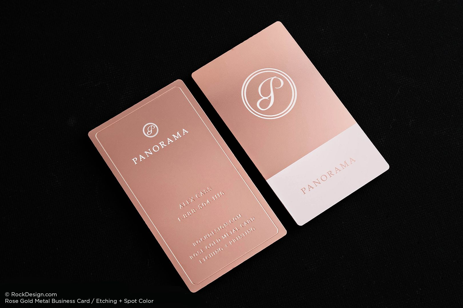 Beautiful And Elegant Rose Gold Metal Business Cards By