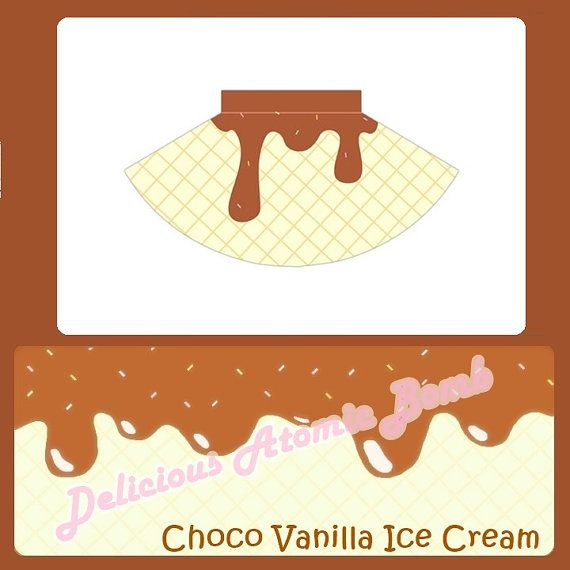 Choco-Vanilla Ice Cream Skirt by DeliciousAtomicBomb on Etsy