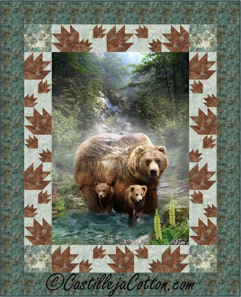 Bears And Paws Panel Quilt Pattern Cjc 51761 Quilts