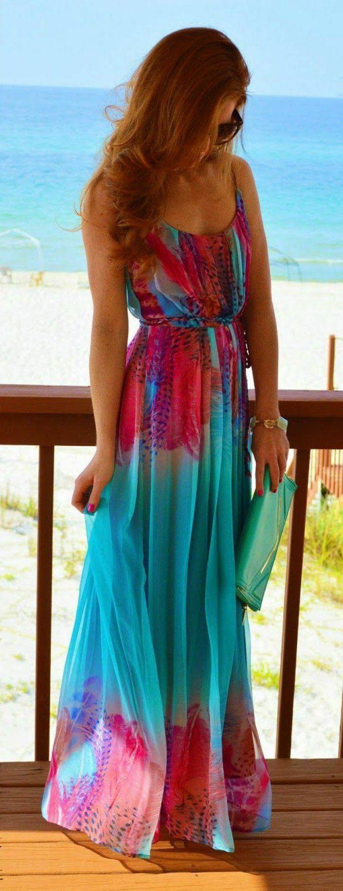 06643a8453b Une robe longue été robe longue bustier été