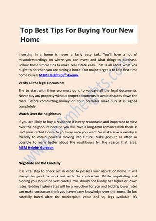 Is A Purchase Order A Legal Document Your Next Chapter Starts Here To Buying Your New Home  M3M Heights .