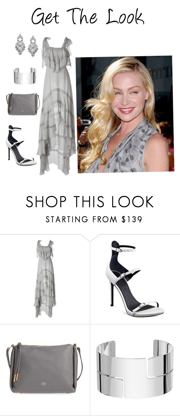 """Portia de Rossi in Grey"" by mel-c-n on Polyvore featuring Philosophy di Lorenzo Serafini, Kendall + Kylie, Vince Camuto, Dinh Van, 1928, GetTheLook, grey, polyvorecontest and PortiaDeRossi"