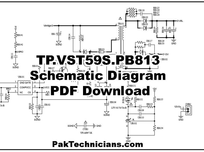 TP.VST59S.PB813 Schematic Diagram PDF Free Download in