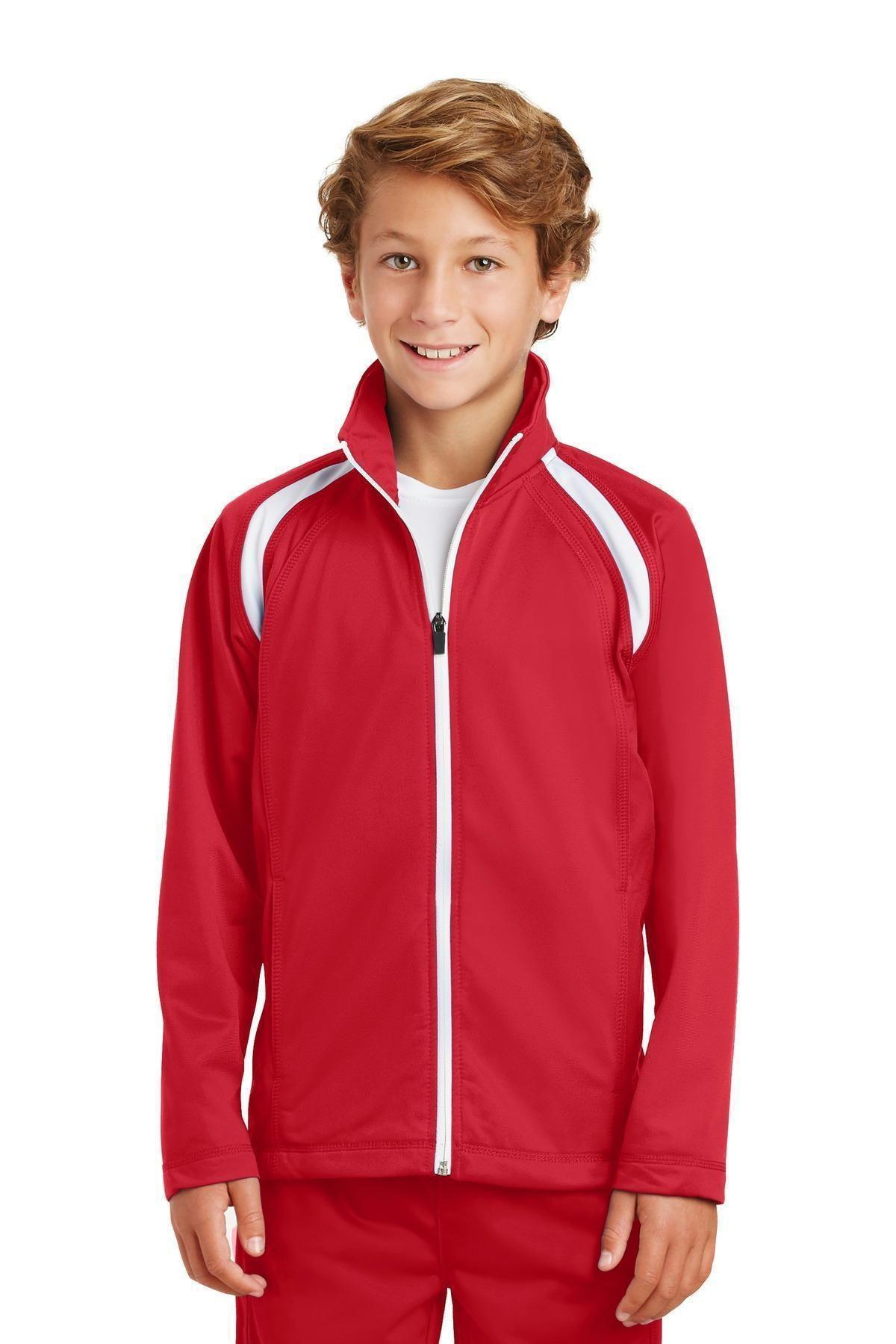 SportTek Youth Tricot Track Jacket. YST90 Jackets, Fall