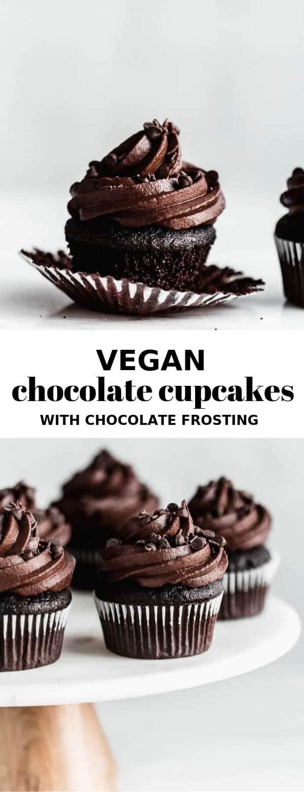 Vegan triple chocolate cupcakes #cakesanddeserts