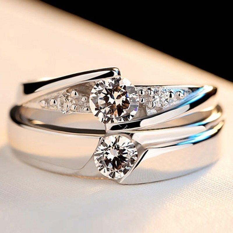 Beautiful design s925 sterling silver white sapphire