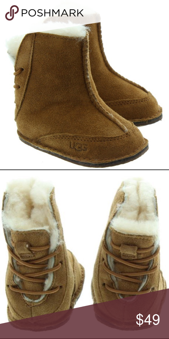 5f6cc2775a5 Ugg Boo Booties New New In Box Shearling Lined Suede outer Small ...