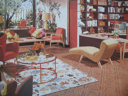 1950s Living Room By Library Fashionista Via Flickr