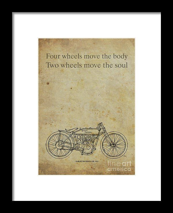 Motorcycle quote four wheels move the body two wheels move the blueprint artwork birthday gift bike biker gift for biker malvernweather Images