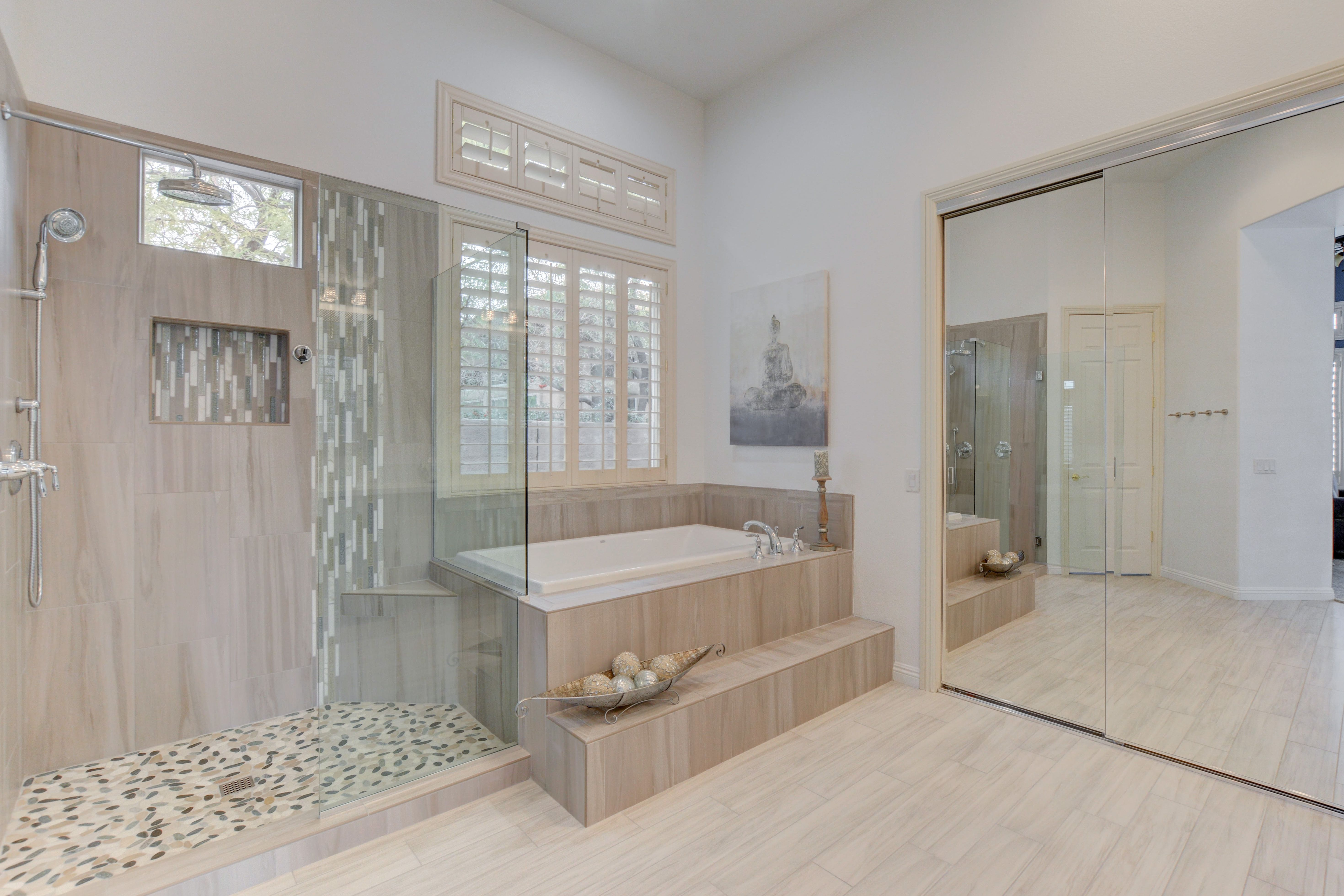 Luxurious Zen Master Bathroom By Las Vegas Remodel Construction - Bathroom remodeling las vegas nv