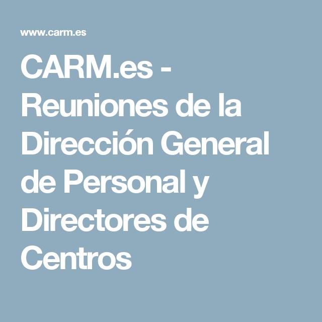 CARM.es - Reuniones de la Dirección General de Personal y Directores de Centros