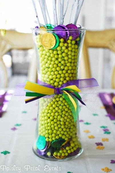 centerpiece?  sticks are actually spray painted twigs with beads hanging from it