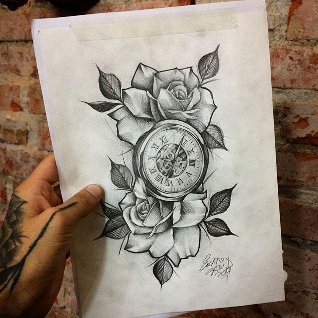 350 Clock Roses Tattoo Design Ideas In 2021 Tattoo Designs Clock Tattoo Watch Tattoos