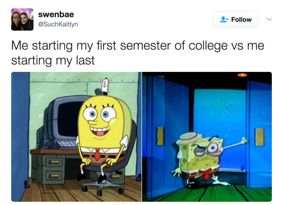 22 Memes You Ll Only Understand If It S Your Last Semester Of College College Jokes Studying Memes College Memes